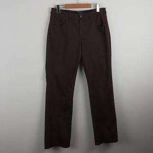 JAG STRAIGHT LEG BROWN FADED PANTS